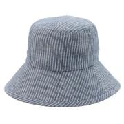French Linen Uv Protection Pattern Crochet Navy