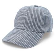 French Linen Pattern Cap Navy