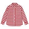 兒童有機棉牛津布襯衫紅格紋120