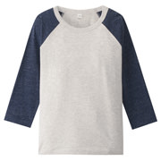 Daily Kids Wear Ogc Col-combi 4/5 Slv T-sht Smoky Blue 110