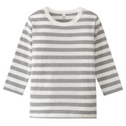 Daily Kids Wear Ogc Border L/s T-sht Gry 80