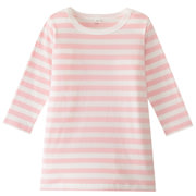 Daily Kids Wear Ogc Border L/s Tunic Salmon Pnk 80