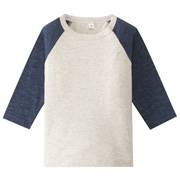 Daily Kids Wear Ogc Col-combi 4/5 Slv T-sht Smoky Blue 80