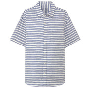 French Linen Washed Border S/s Sht Blue S