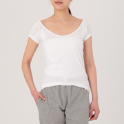 Smooth Cool Touch French Slv With Sweat Pad Wht Xs