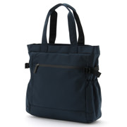 Nylon Tote Bag With Side Belt Blue