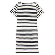 Ogc Boatneck S/s Dress Wht Bor Xs - S