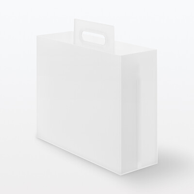 PP FILE BOX W/ HANDLE CLEAR