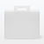 PP FILE BOX W/ HANDLE CLEAR - 1