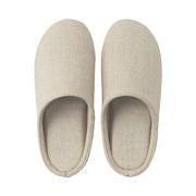 Linen Twill Cushion Slipper L Ecru A17