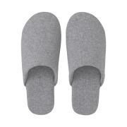 Jersey Knitted Soft Slipper L Gry A17