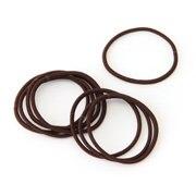Hair Rubber Band/slim/brw 8pcs