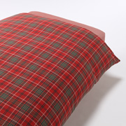 Organic Ct Flannel D/cover Q Redchk A17