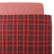 Organic Ct Flannel D/cover K Redchk A17