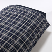 Organic Ct Flannel D/cover Q Nvychk A17