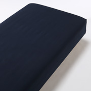 Organic Ct Flannel F/sheet Q Nvy A17