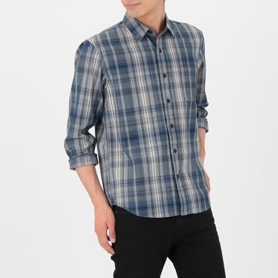 無印良品 ギンガムチェックシャツ Mサイズ