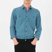 Polyester Double Pocket Sht Light Blue S