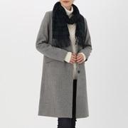Wool Woven Muffler (pattern) Dk Green