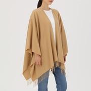 Large Yak Wool Multi Cape Stole Camel