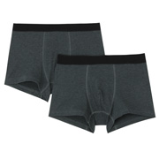 Stretch Boxer 2 Pack Charcoal Gray S