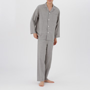 Side Seamless Double Gauze Pajama Gray S
