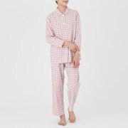 Side Seamless Double Gauze Pajamas Pink*chk S