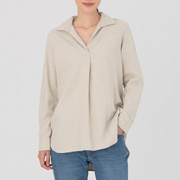 Ogc Flannel Pullover Tunic Oatmeal S