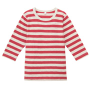 Everyday Kidswear Ogc Slab Bor 3/4 Slv Tshirt Dk Orange 110