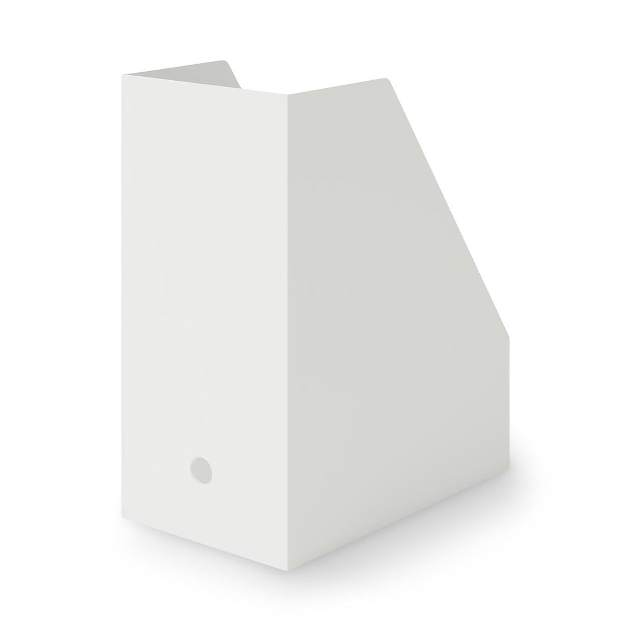 【店舗限定】ポリプロピレンスタンドファイルボックス・ワイド・A4用・ホワイトグレ