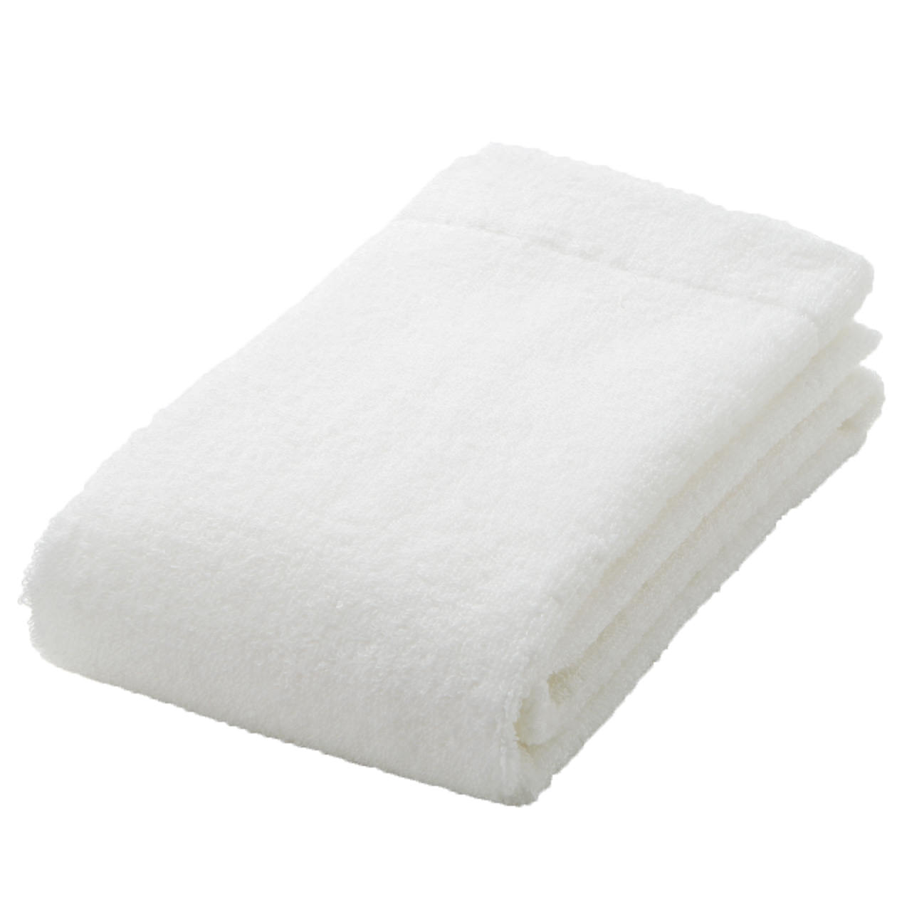 off white thin face towel