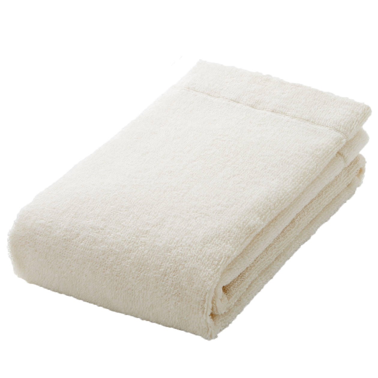 ecru thin face towel
