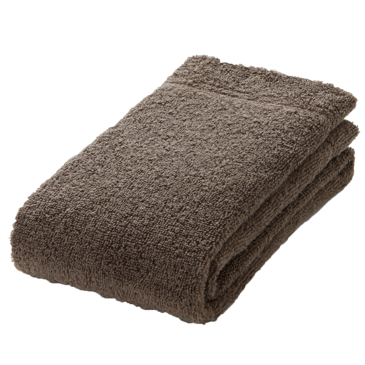 brown thin face towel