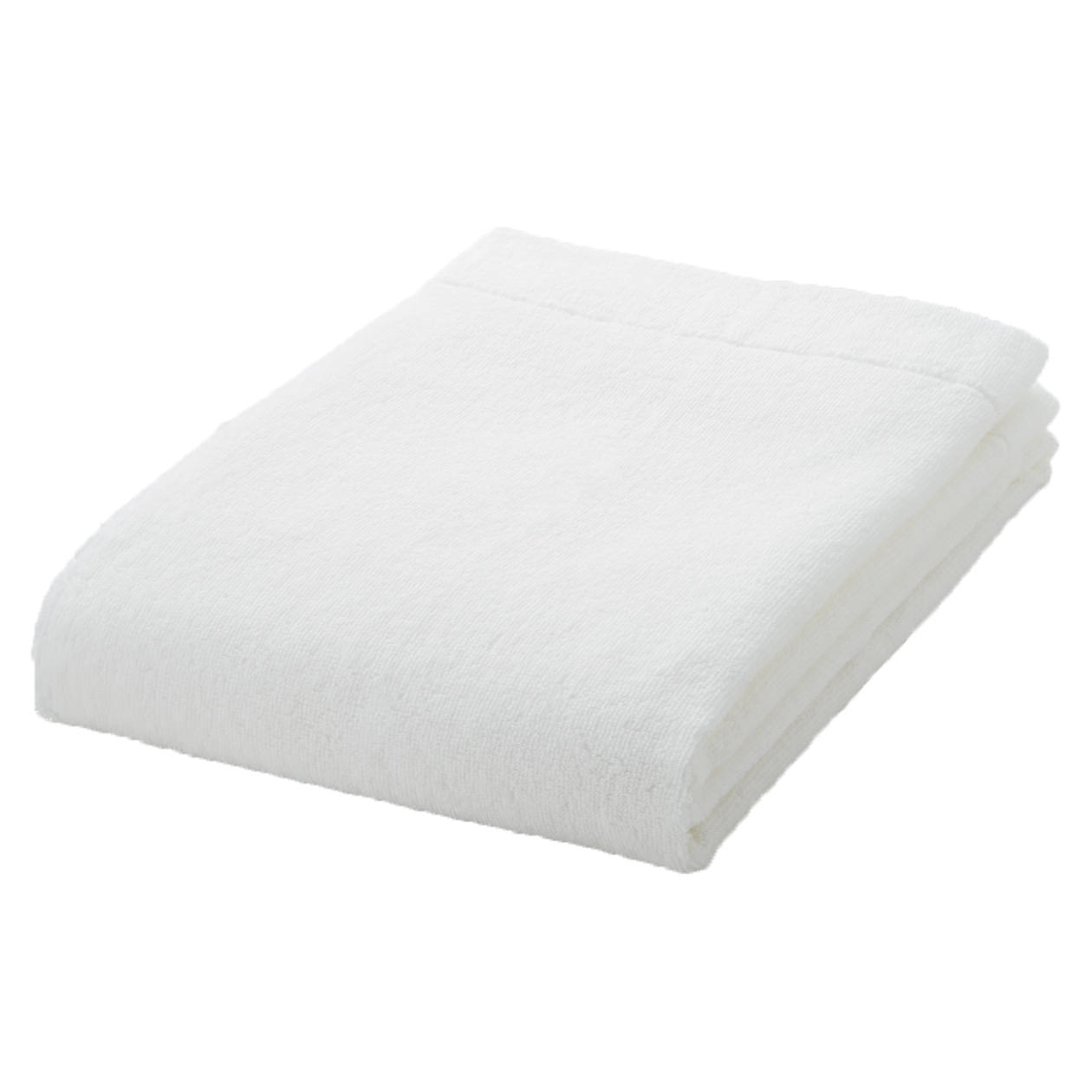 off white thin Small Bath towel