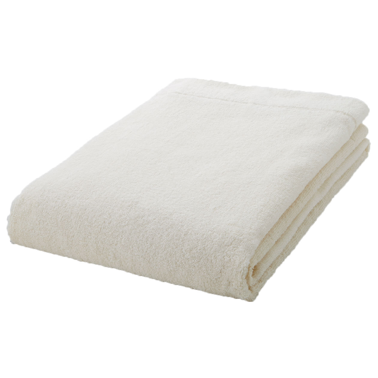 ecru thin Bath towel