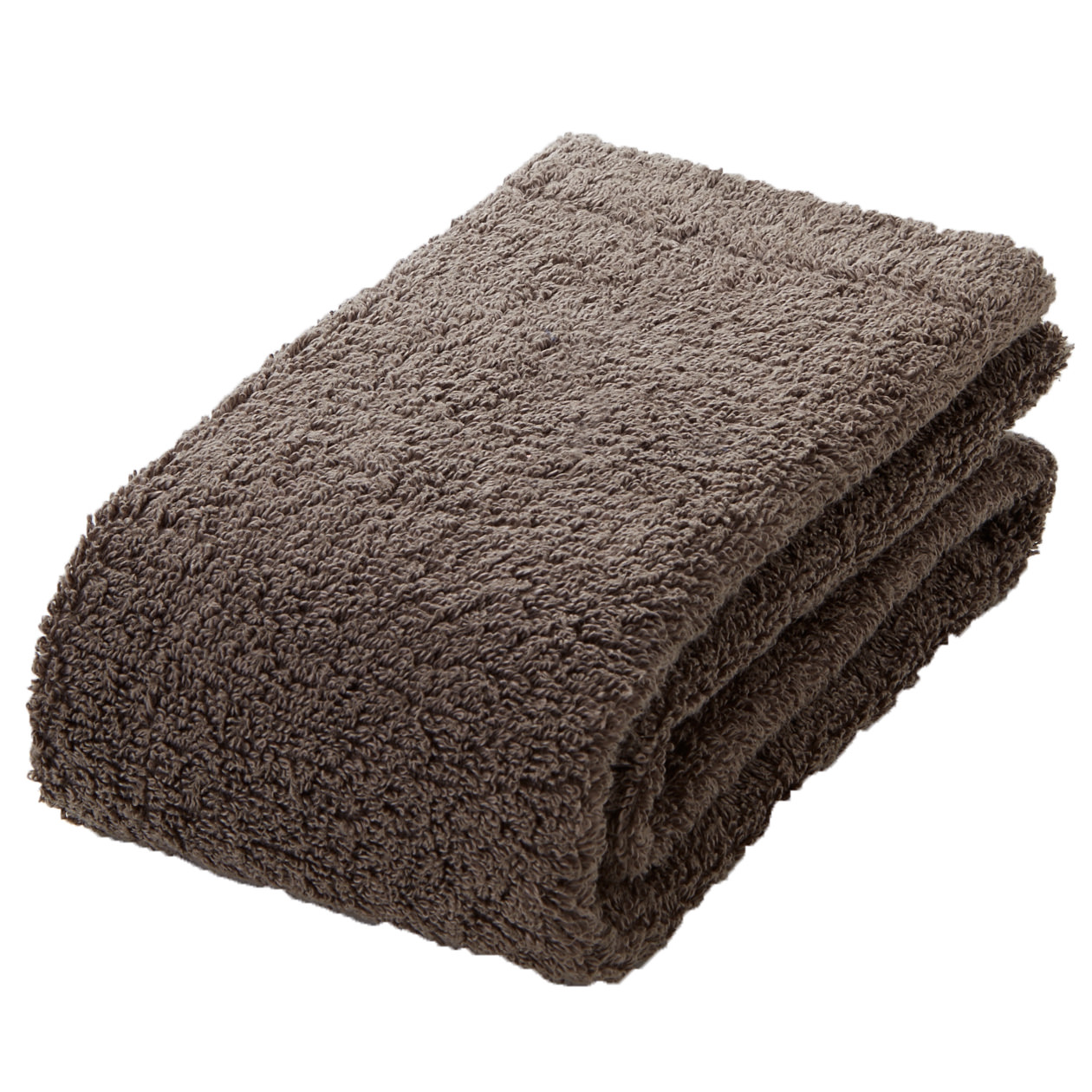 brown thick face towel