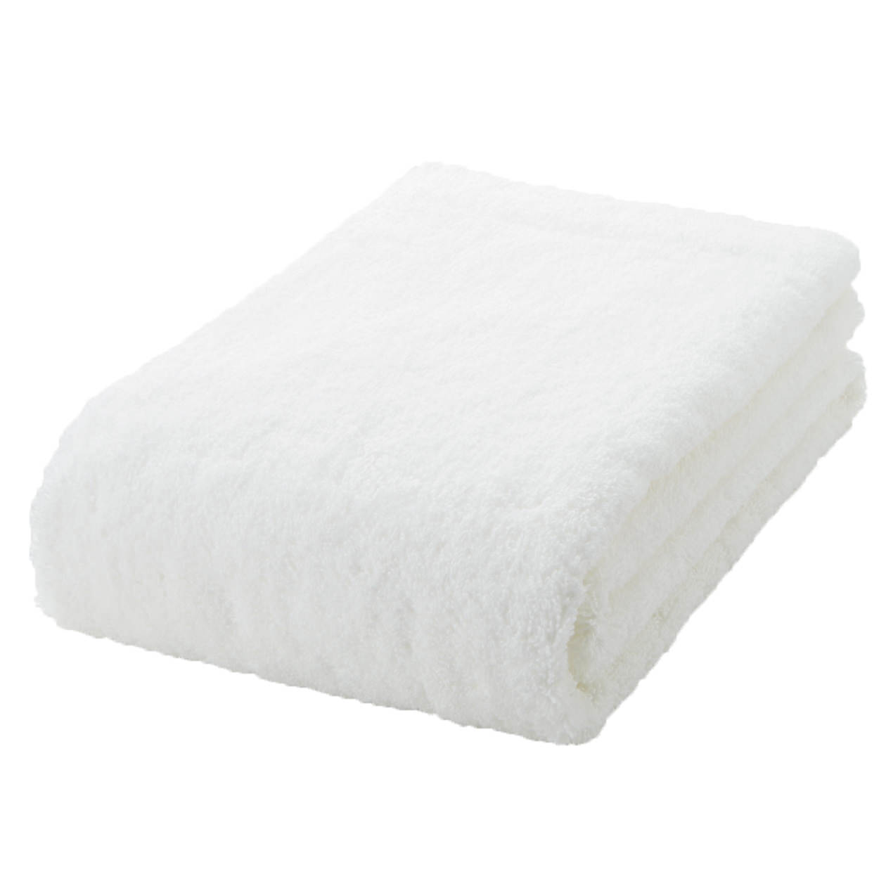 off white thick bath towel S