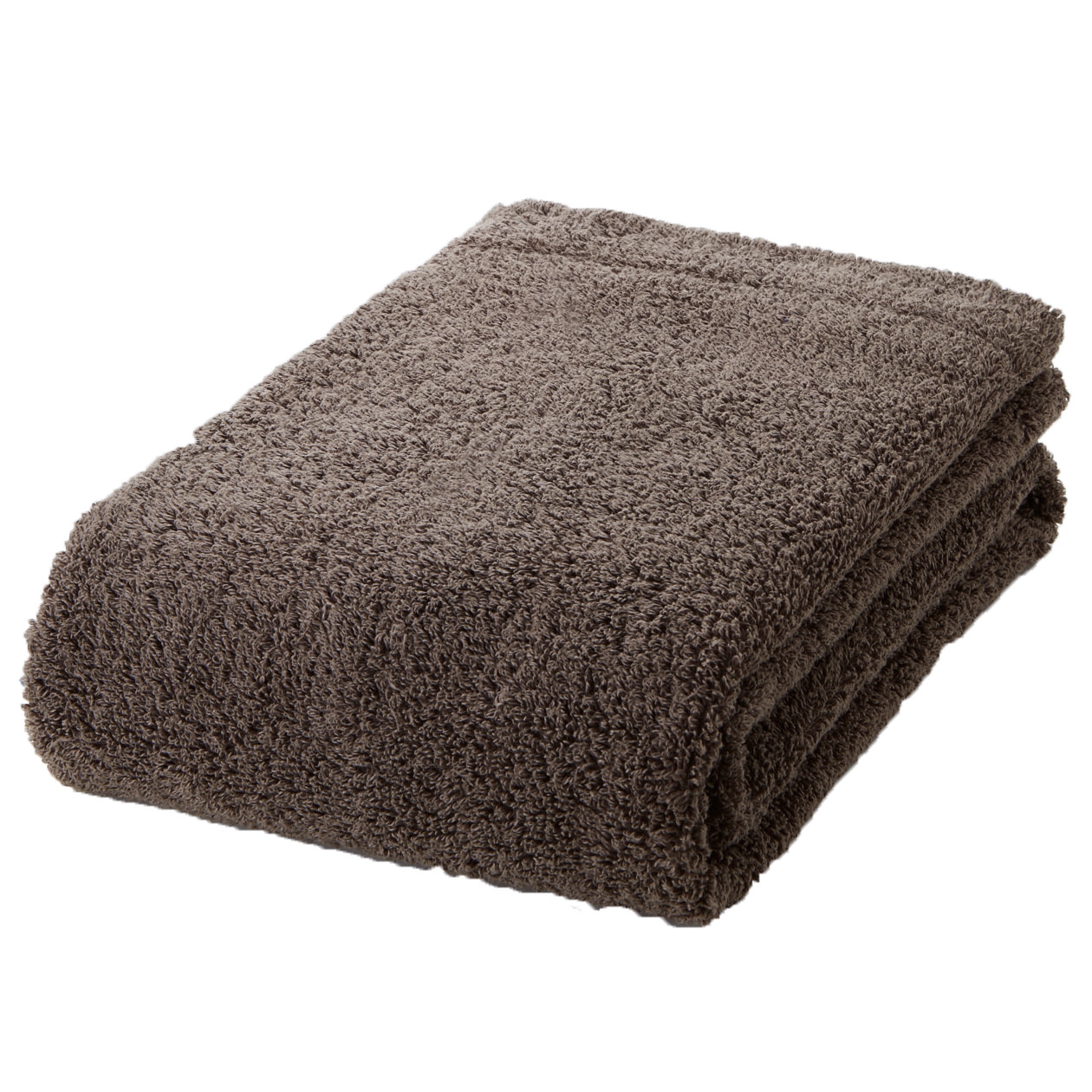 brown thick bath towel S