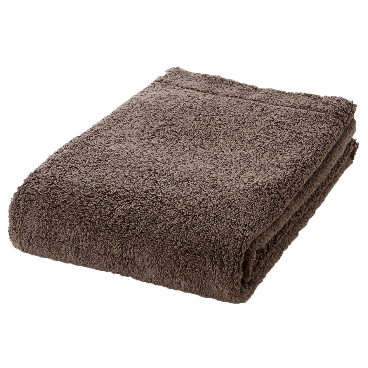 brown thick bath towel