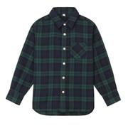 Ogc Flannel Check Shirt Dk Green 110