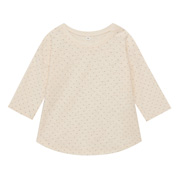 Everyday Kidswear Ogc Slab Dot 3/4 Slv Tshirt Raw Wht 80