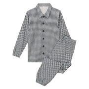 Ogc Double Gauze Pajamas Navy*chk 140-150