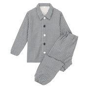 Ogc Double Gauze Training Pajamas Navy*chk 110-125