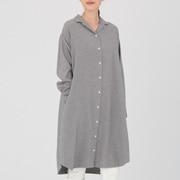 Ogc Flannel Shirts Dress Gry Xs  - S