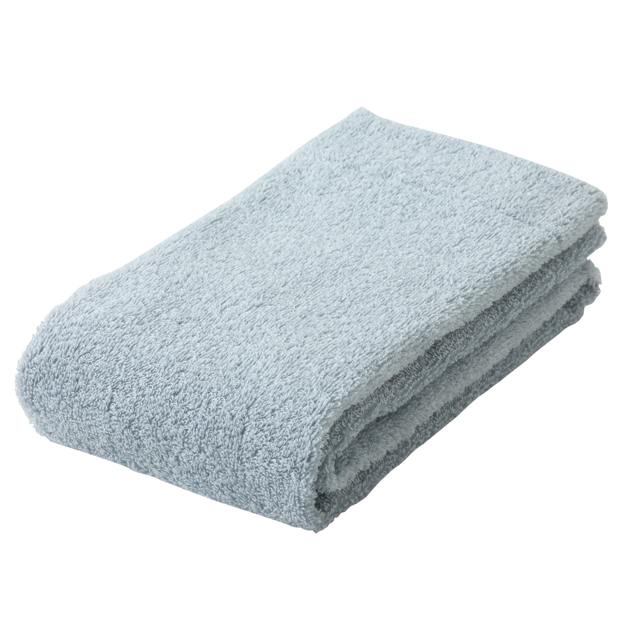 light blue thin face towel