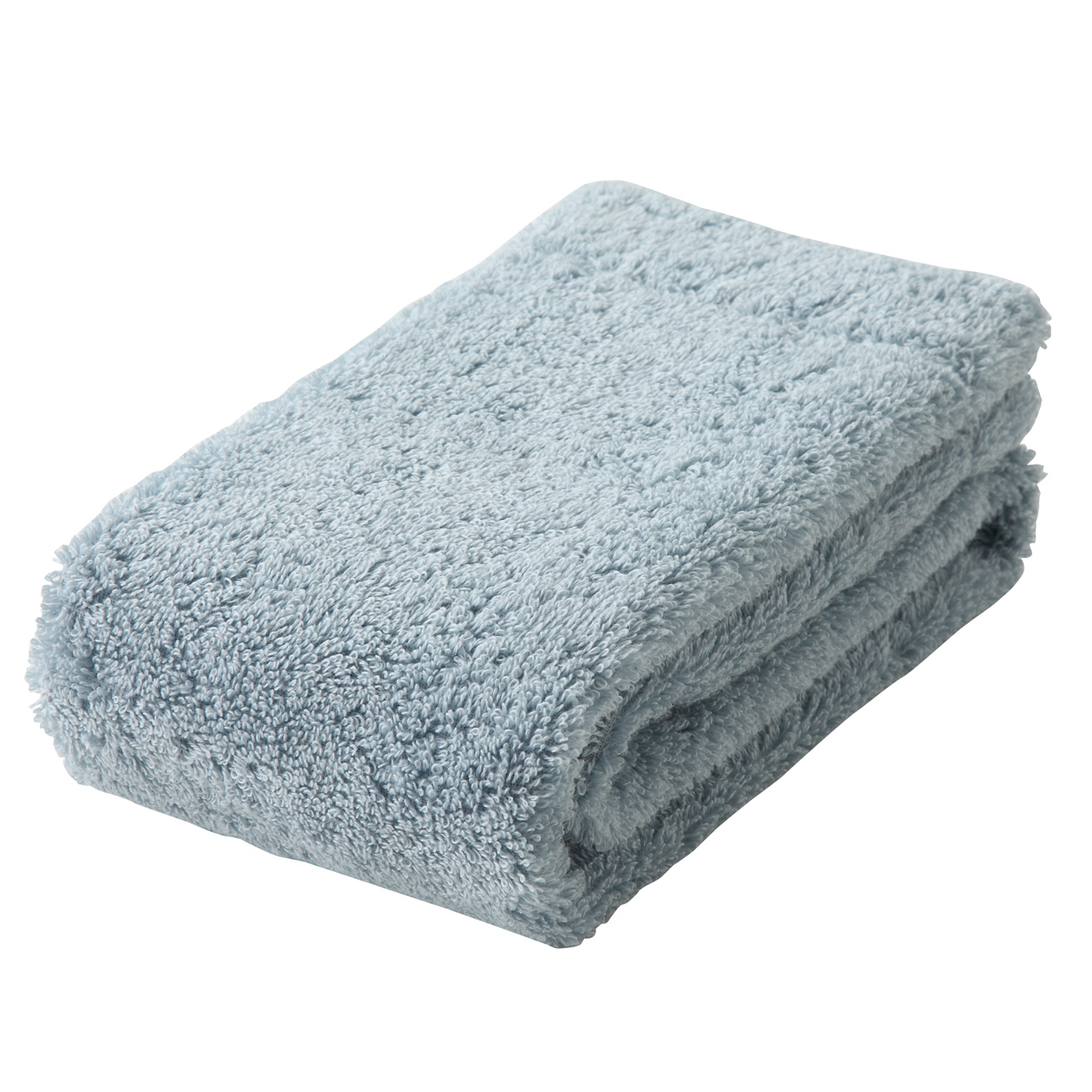 light blue medium face towel