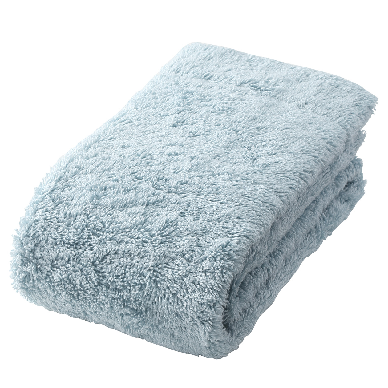 light blue thick face towel