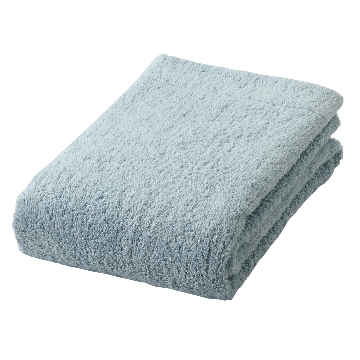 light blue thick bath towel S