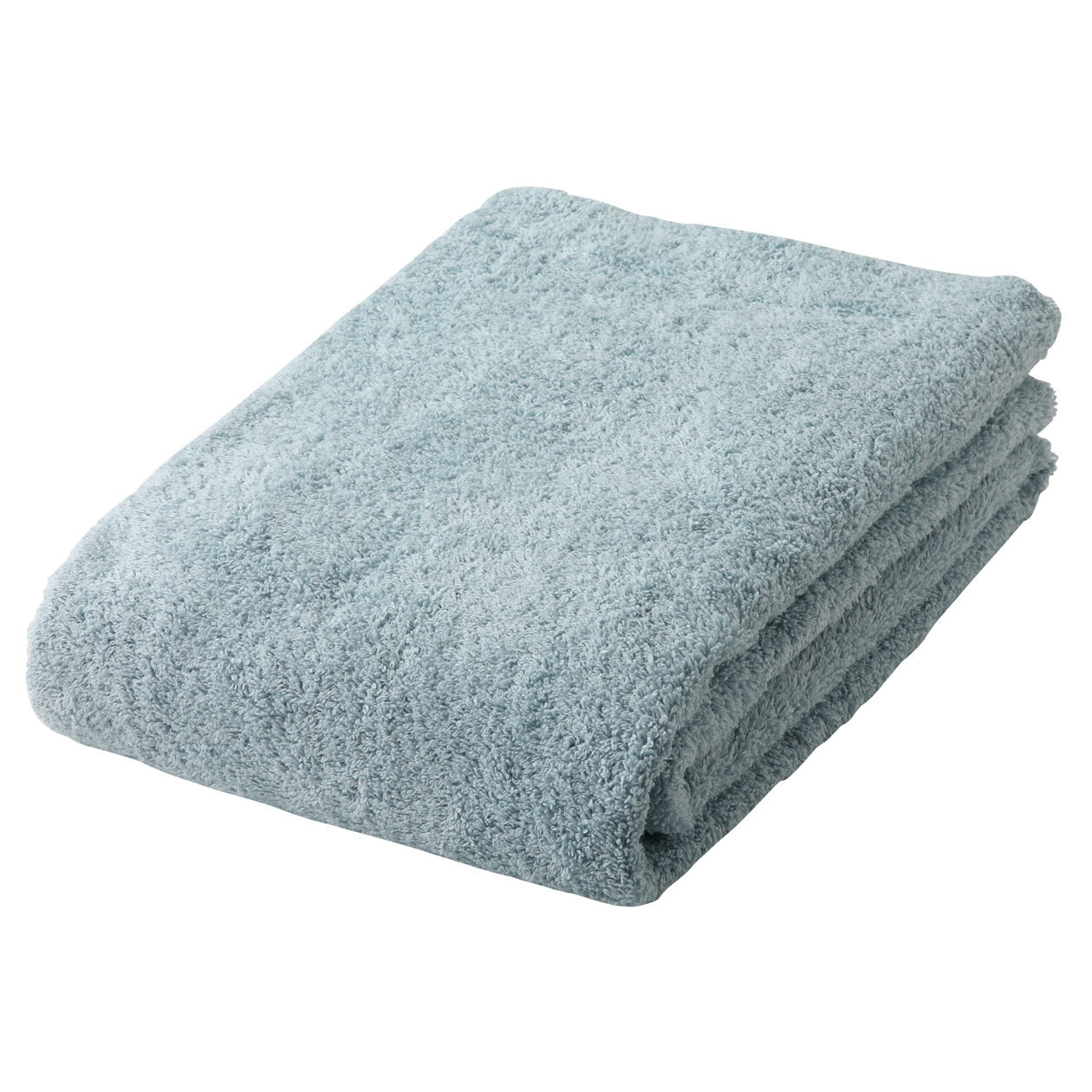 light blue thick bath towel