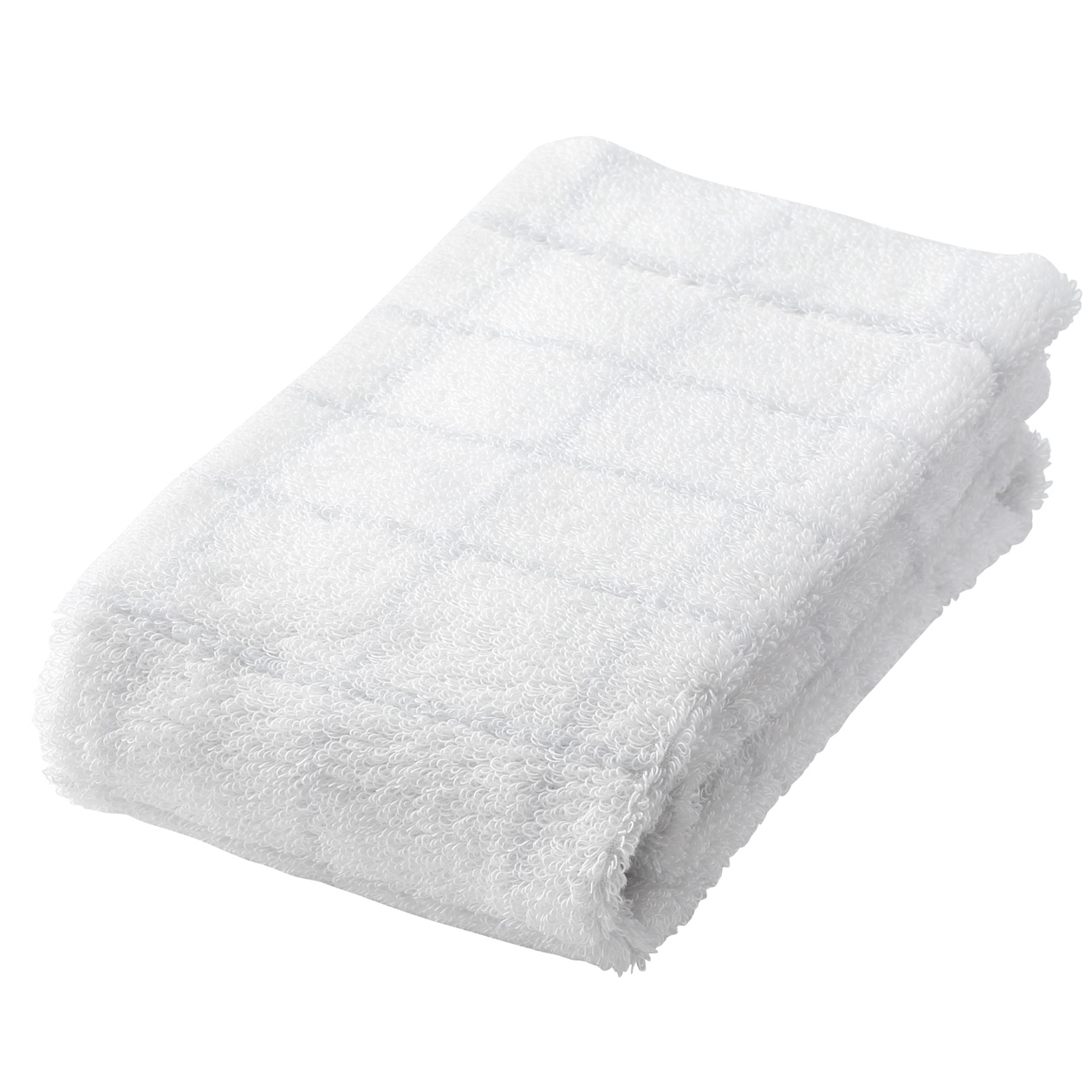 light gray check medium face towel